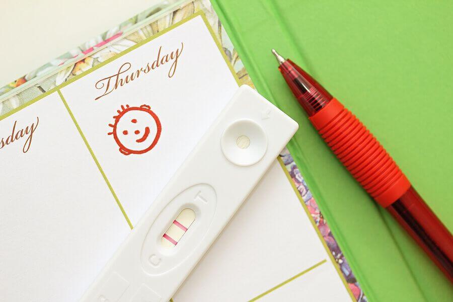 Schwangerschaftsfrühtest HCG Test im Urin