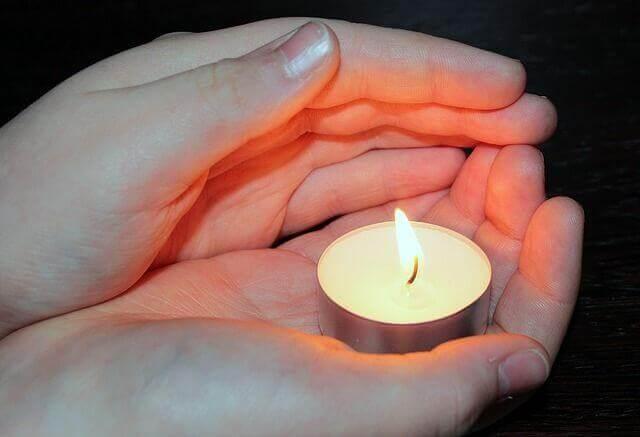 In den Himmel geboren Kerze für Sternenkinder