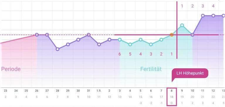 Wann kann man schwanger werden Zykluskurve mit LH Höhepunkt
