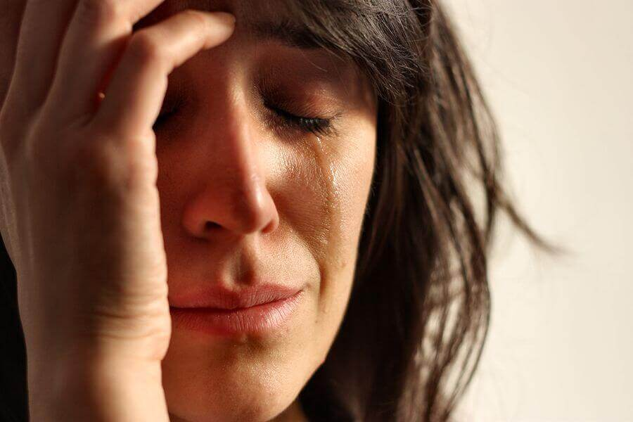 Krise weinende Frau