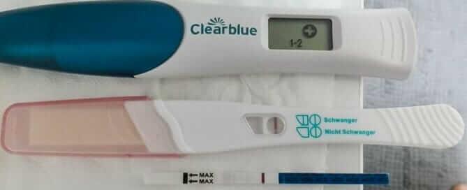 Frühschwangerschaftstest Teststreifen digitaler Kassettentest